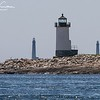 Straitsmouth Island Lighthouse with Twin Lighthouses in background - Rockport, MA - July 5, 2013