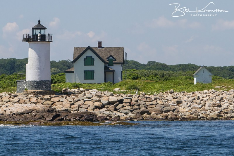 Straitsmouth Island Lighthouse off the east side of Cape Ann in Rockport, MA on July 5, 2013