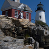Pemaquid Point Light at Pemaquid Point Lighthouse Park in Pemaquid, Maine on July 17, 2015.