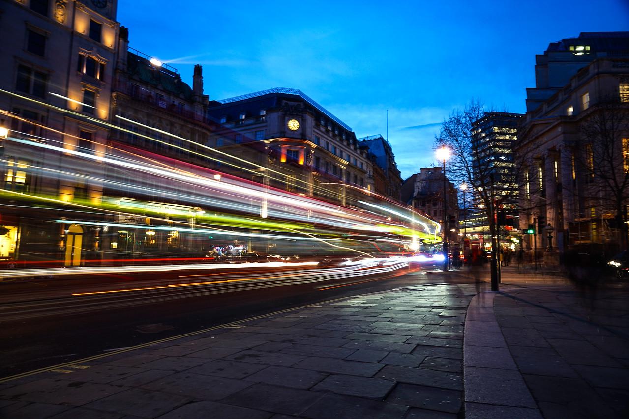 Traffic at Dusk - London