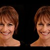 Facial cosmetic simulation - wrinkle removal, skin softening, teeth straightening and bleaching