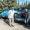 The jeep ride excursion out the Denali Highway