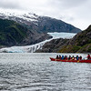 Kayaking out in front of the Mendenhall Glacier