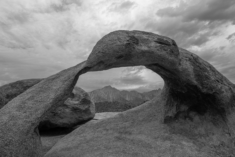 Mobious Arch with Mount Whitney in the background