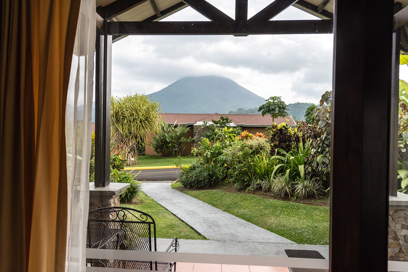 View from our room in the Arenal Hot Springs resort