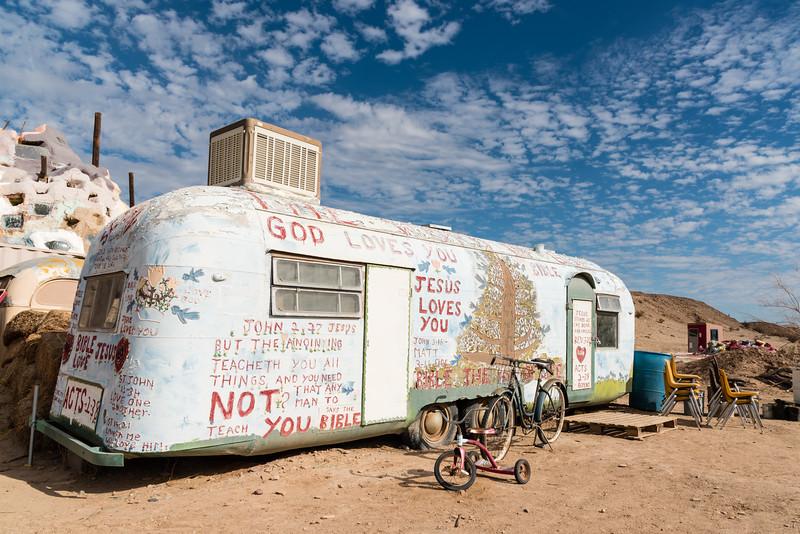 Salvation Mountain trailer