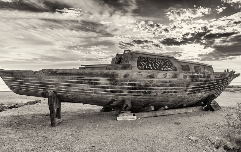 Boat going nowhere