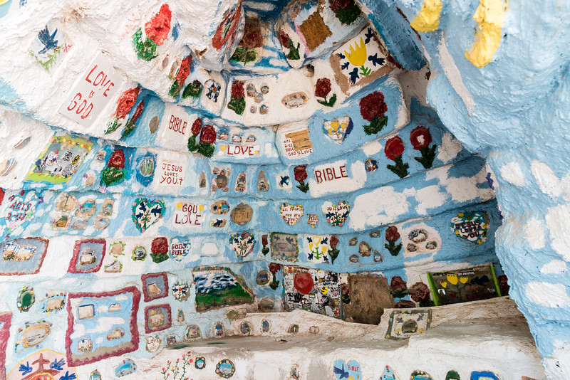 The chapel at Salvation Mountain