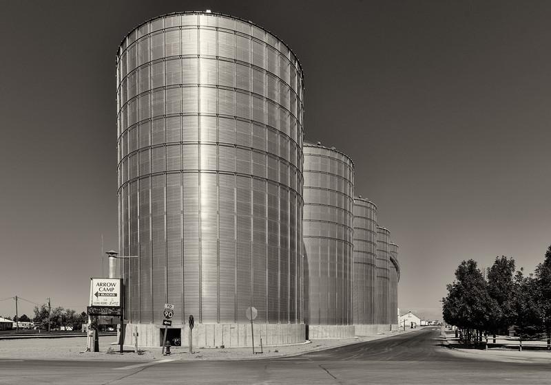 Grain elevators, Wall, South Dakota