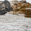 Lower terraces area of Mammoth Hot Springs