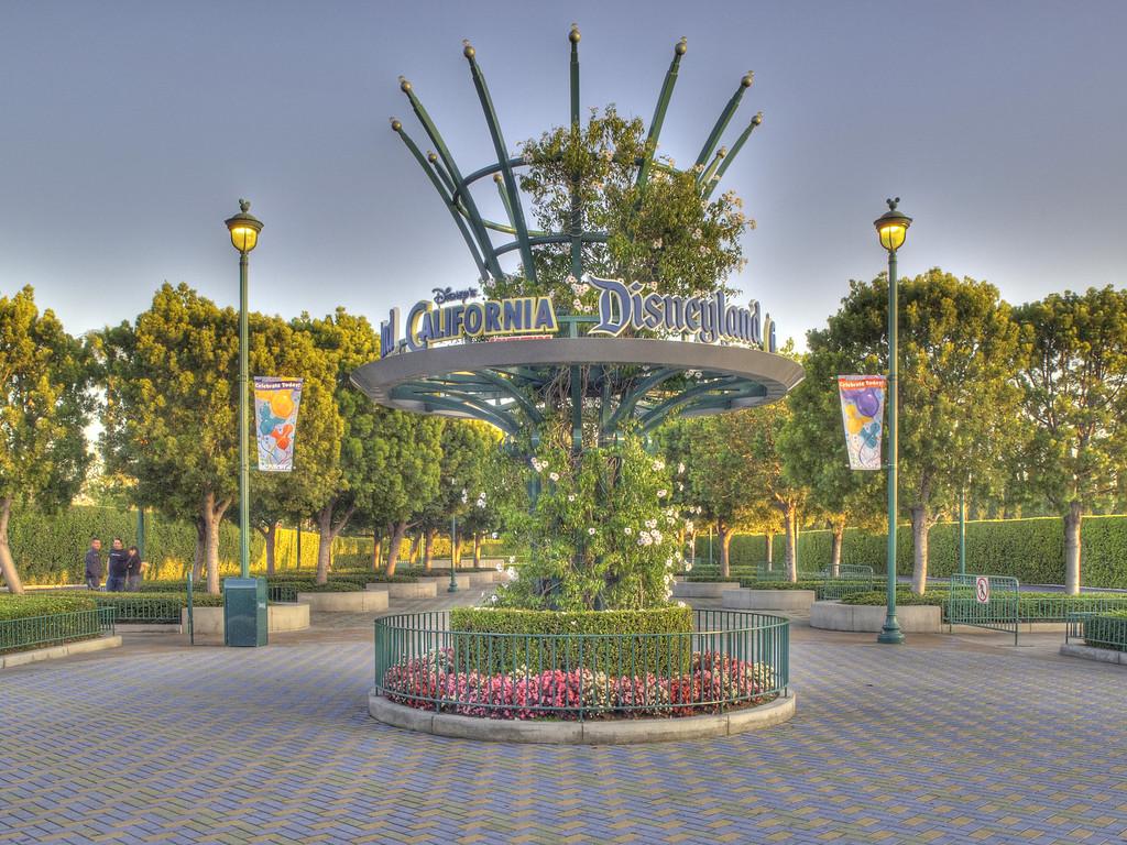 Tram Stop at Disneyland - HDR - 20 May 2010