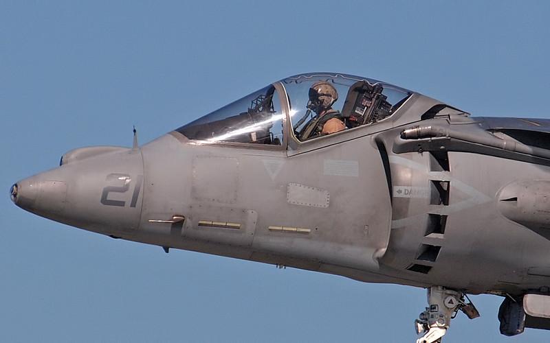 AV-8B Harrier hovers at AirVenture - 29 July 2011