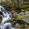 Beautiful natural waterfall in Pyrenees near Bridge of Spain