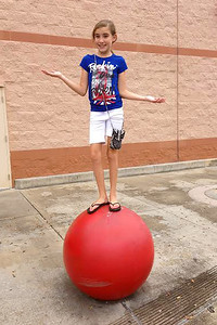 June 2014 Sage on ball at target