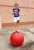 June 2014 Sage on ball at target