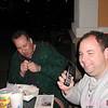 sham elhag & todd mcdaniel<br /> february 16. 2001<br /> sham's birthday celebration<br /> todd's first cell phone