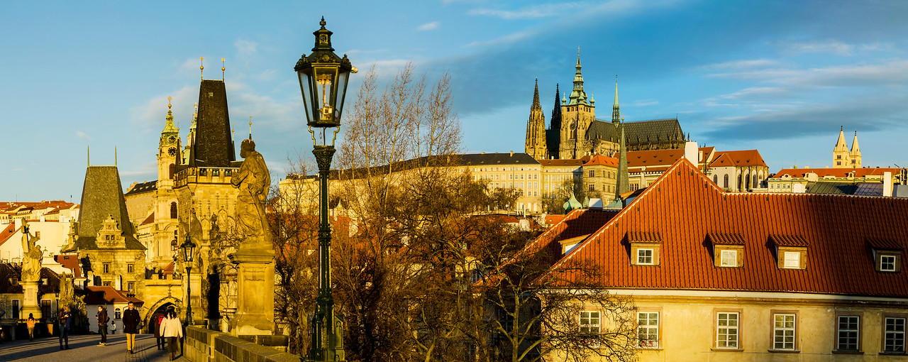 Praha and Kalovy Most in the morning light