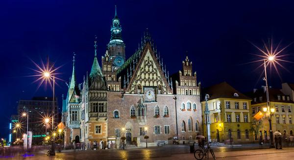 Wrocławski Rynek o Zmierzchu