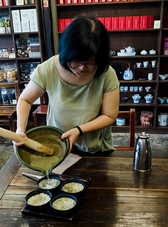 Traditional Hakka Lei Cha (pounded tea)