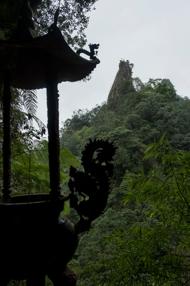 Temple and a peak
