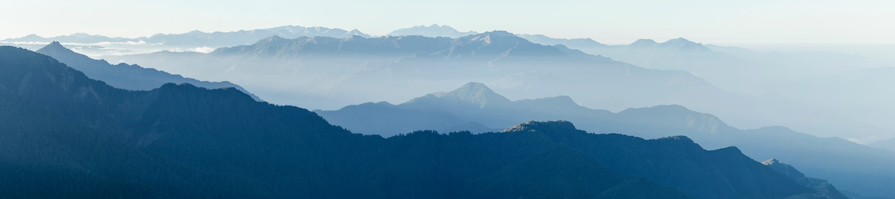 Layered moutains