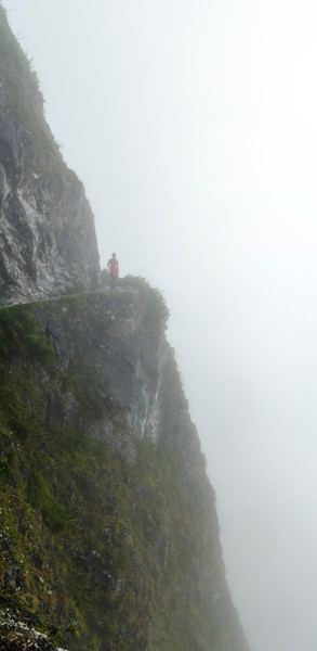 Cliffs in the mist