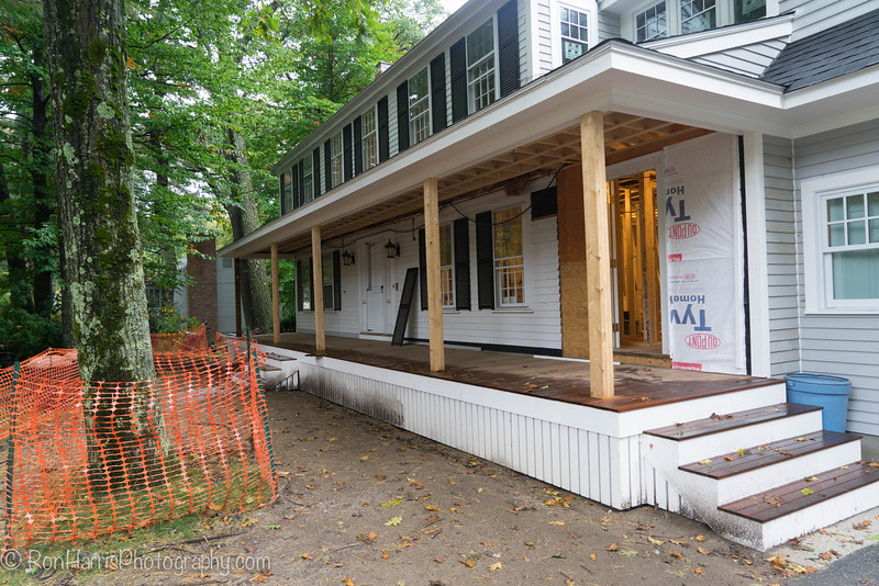 The front porch and roof are new.