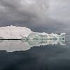 Ilulissat, Isfjordens munding 29. juni kl. 23.30