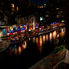 A view of the Riverwalk from E Commerce Street in San Antonio, Texas on August 19, 2015.