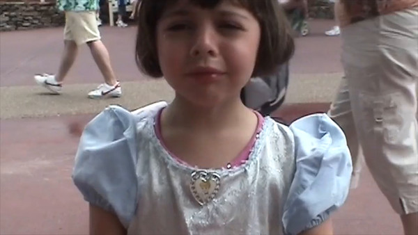 Emily's melt down at Disney