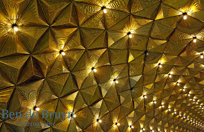 Gold subway roof