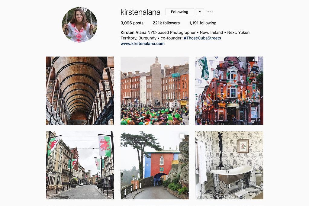 Travel with Kirsten on Instagram