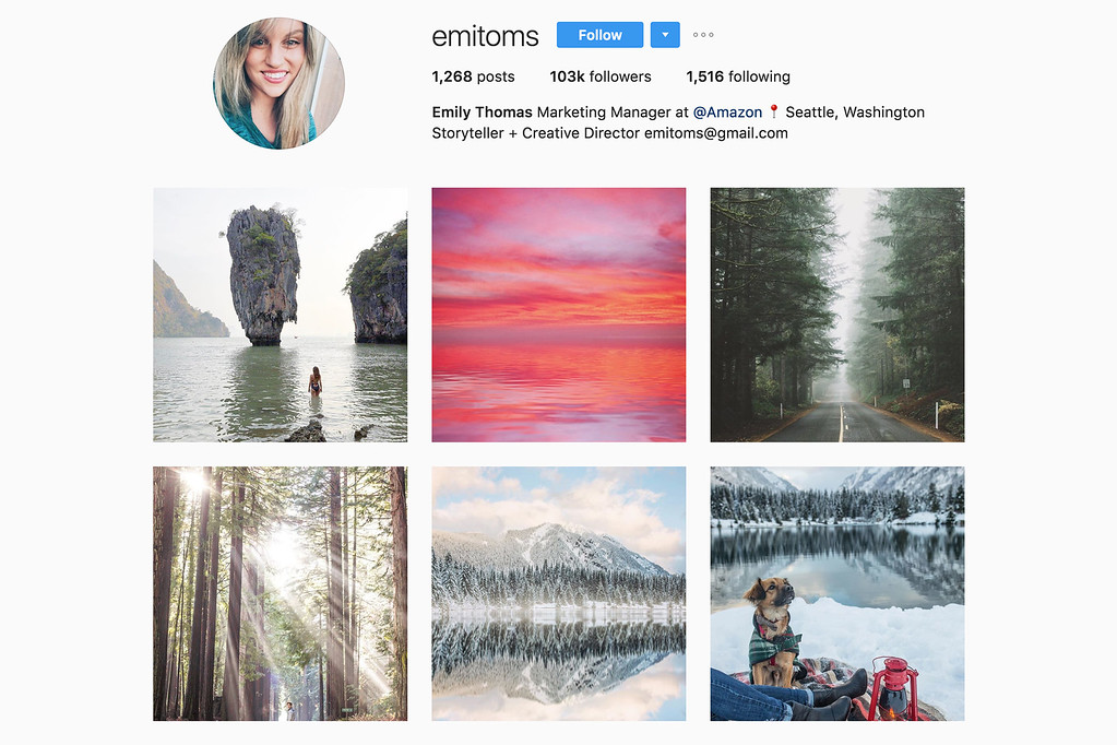 Travel with Emily on Instagram