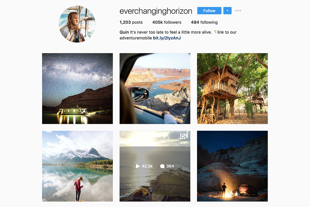 Travel with Quin on Instagram