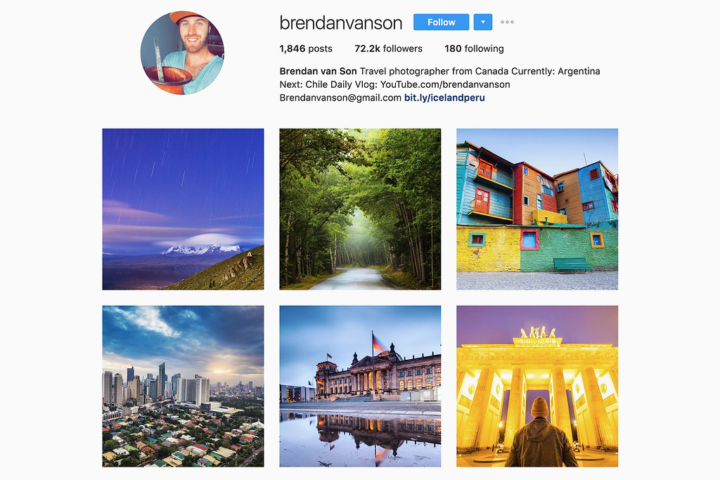 Travel with Brendan on Instagram