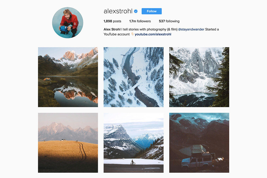 Travel with Alex on Instagram
