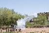 Cannon smoke ring, Glorieta Pass, Civil War Reenactment