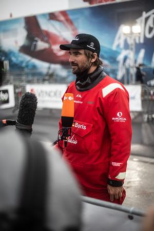 Boris Herrmann and Seaexplorer / Yacht Club de Monaco finishing the 2020/2021 Vendée Globe at Sables d'Olonne