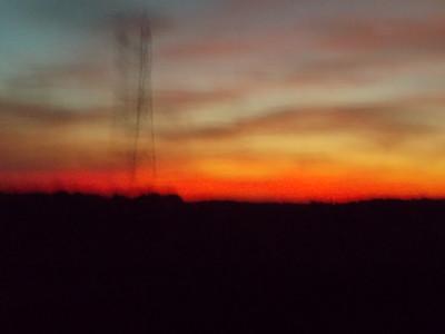 l'aube sur l'autoroute