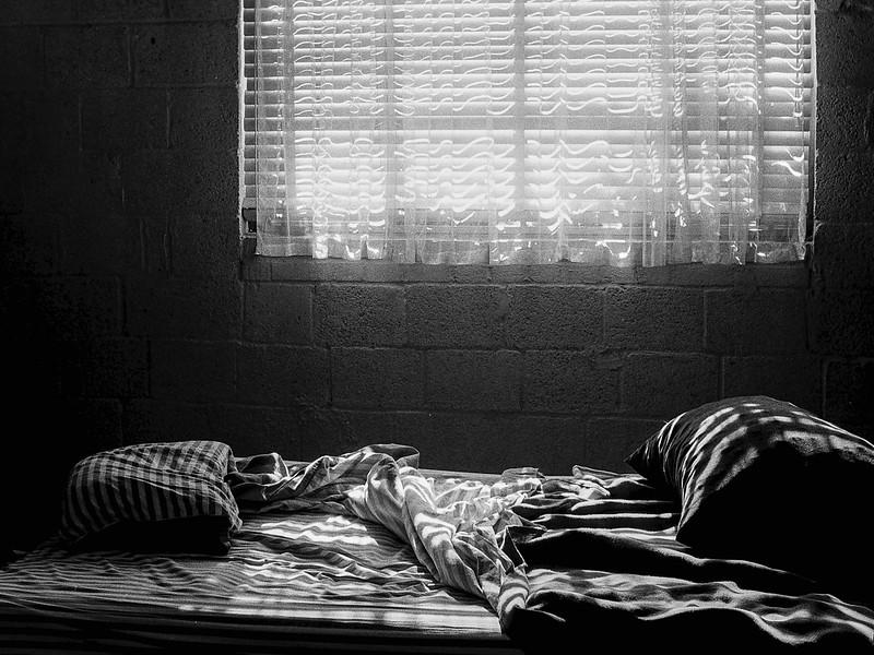 Bed and shades