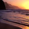 Ke'e Beach Sunset Kaui