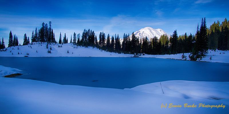 Tipsoo Lake Winter Light