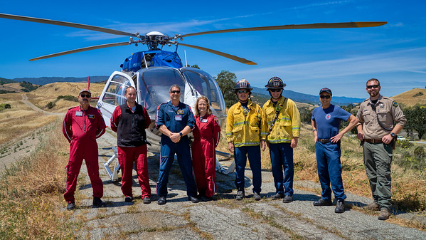 Always great to work with the front line first responders. Stanford  LifeFlight, SJFD, County Parks. Thanks for coming out.