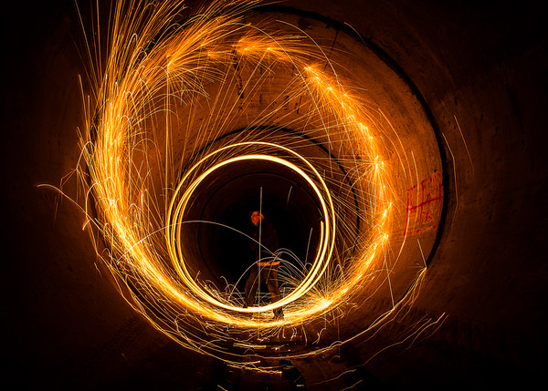 Experimenting With Steel Wool In A Tunnel