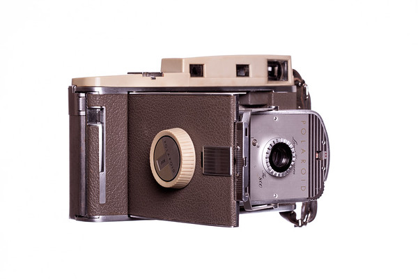 Vintage Camera Polaroid-800 Right Side View