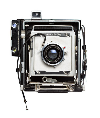 Vintage Camera Crown Graphic Front View