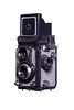 Yashica-44 Camera Left Side View Hood Open