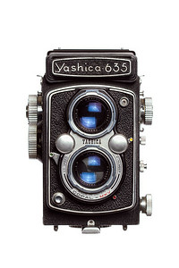 Vintage Camera Yashica-635 Front View Hood Closed