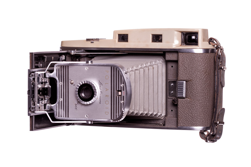 Vintage Camera Polaroid-800 Left Side View