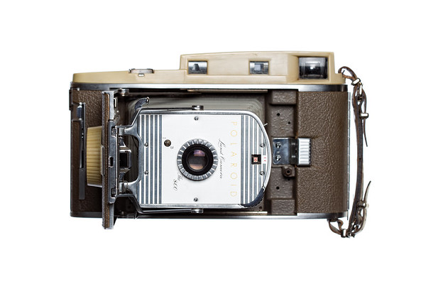 Vintage Camera Polaroid-800 Front View